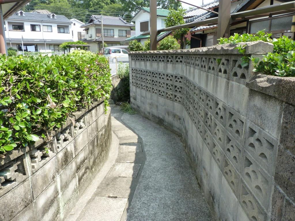 永田さんの家に通じる道