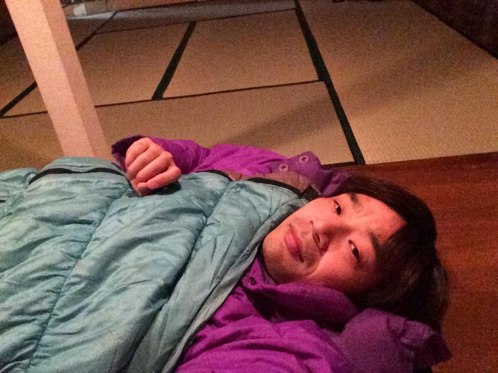 寝袋が活躍