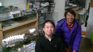 作家でモデラーの米田さんと