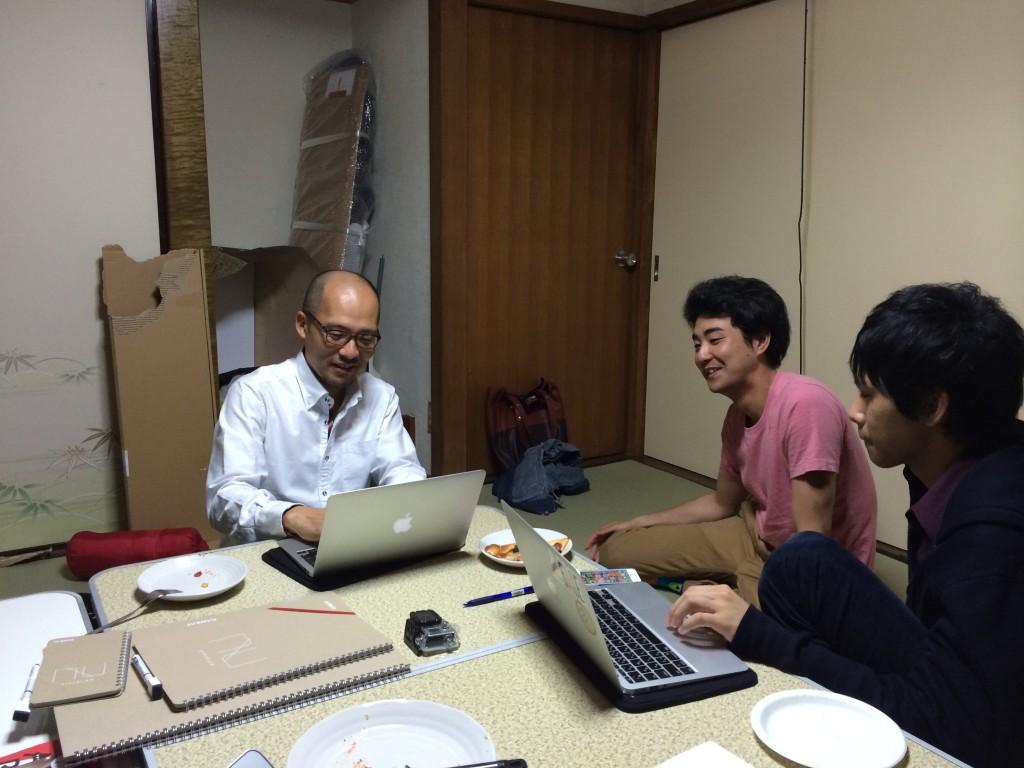 吉島彰宏さんと @ 起業ハッカソン