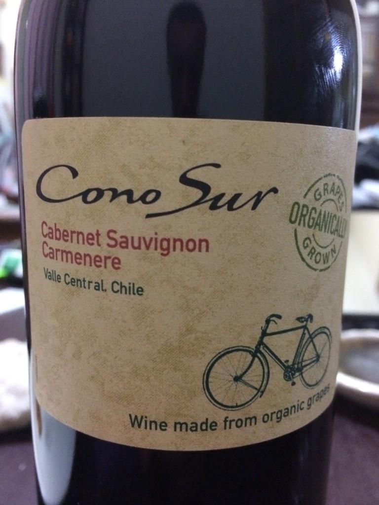 ワイン3本目:コノスル・オーガニック・カベルネ/カルメネール
