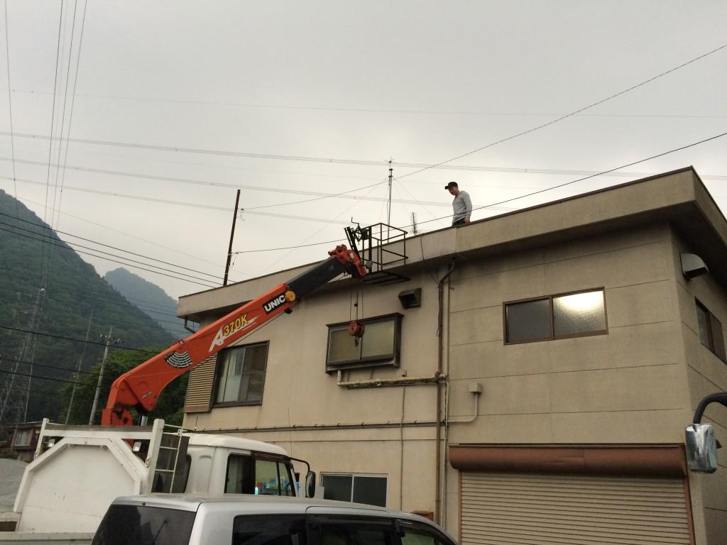 建国見学会:屋上整備
