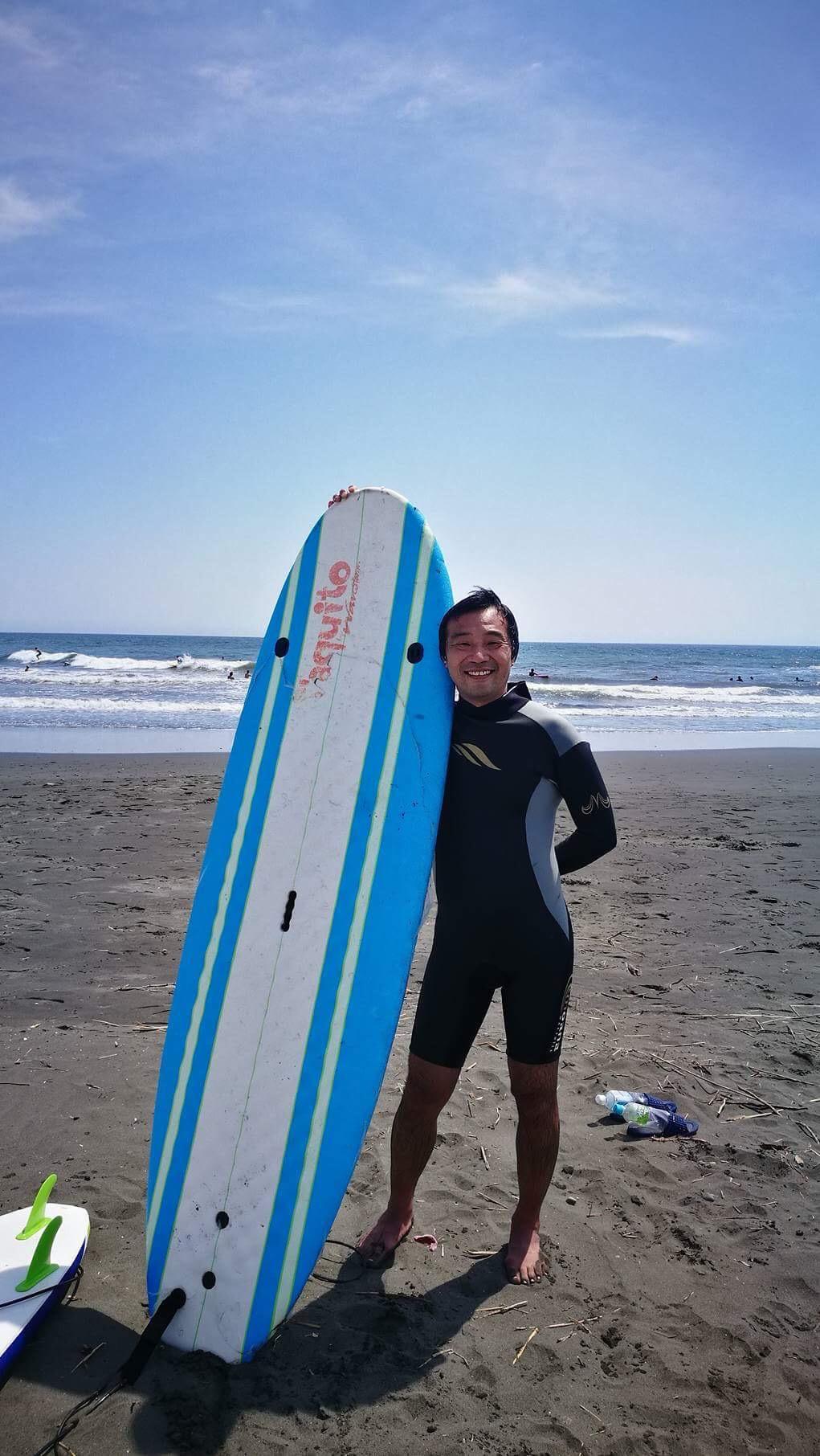 46歳にして初サーフィン