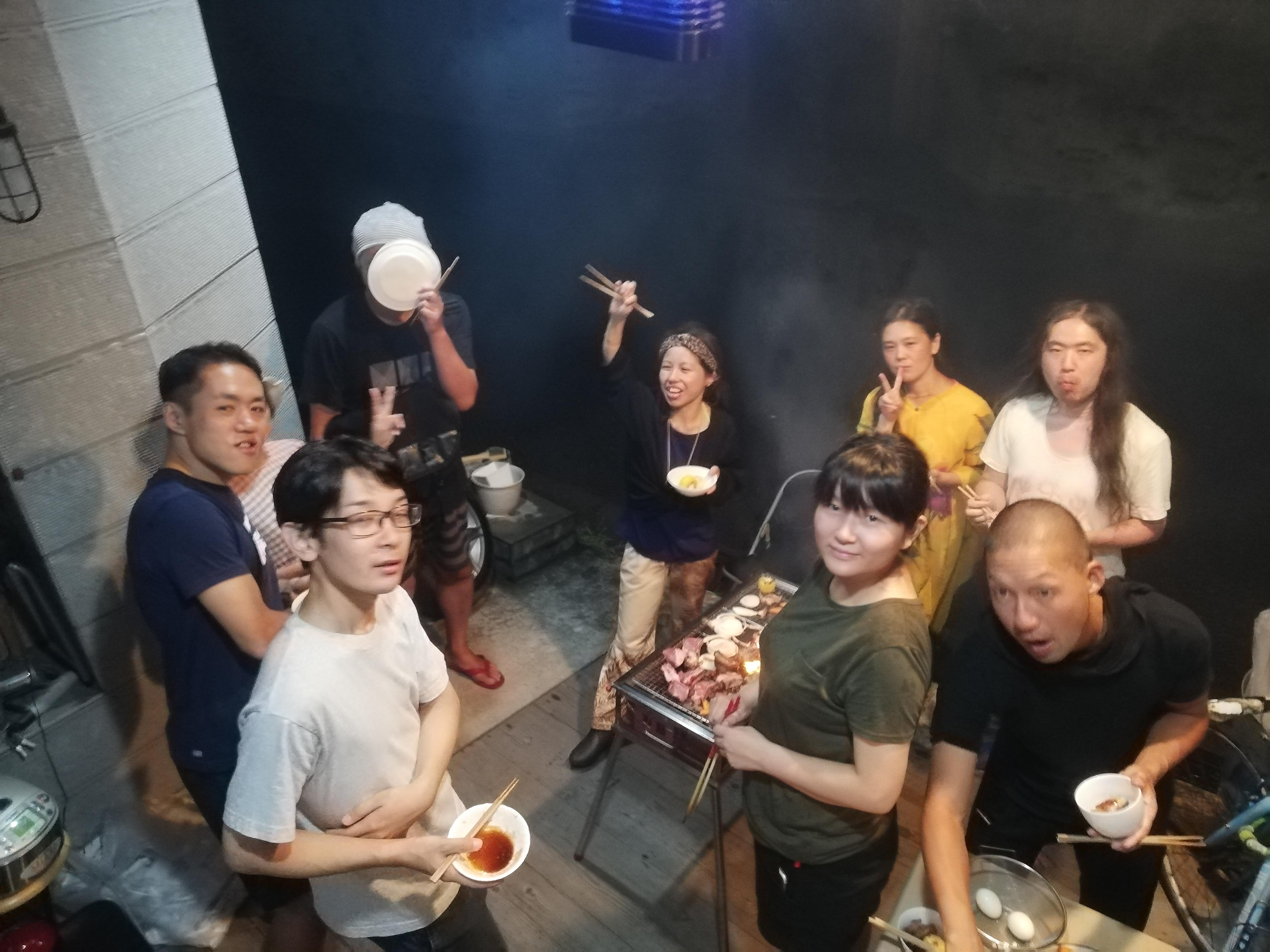 8月27日、長野から4人のお客様を迎えて川崎のMAZARIBAでBBQ
