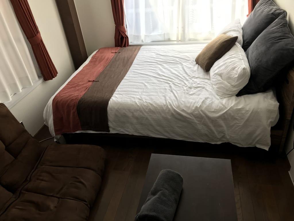 格安で貸してもらったホテルの一室