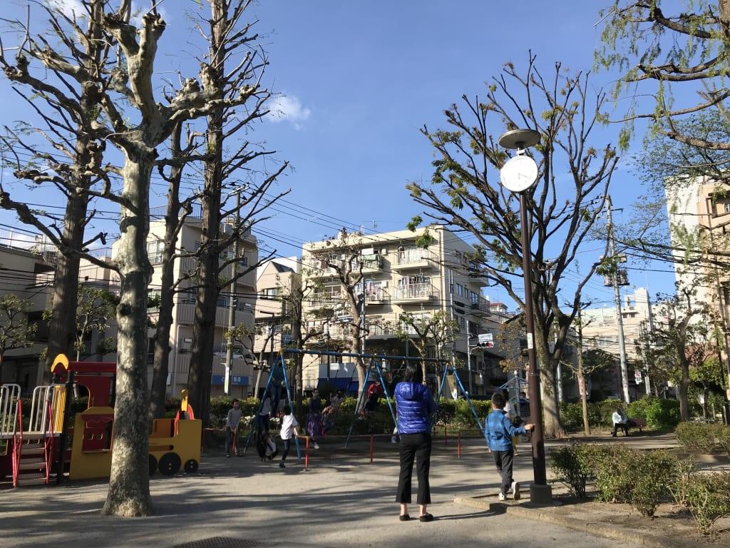 4月19日の近所の公園の様子